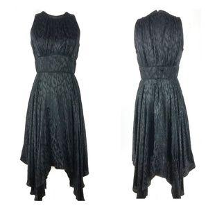 Maggy London | Leopard Shark Bite Hem 8 Dress